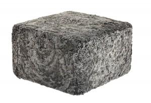 sittpuff med fårskinn rektangulär